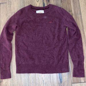 Burgundy Hollister Cashmere Sweater